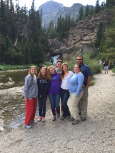 The group with Eagle Falls in the background.