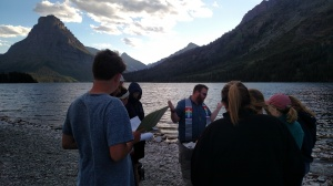 Fr. Rob celebrating the Eucharist at Two Medicine Lake.