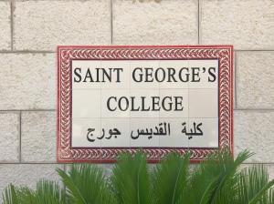 The sign for the college.
