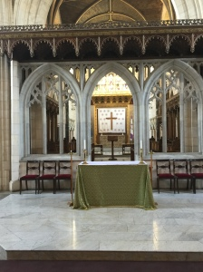 The altar in the cathedral.