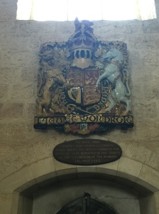 The royal coat of arms in the cathedral.