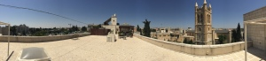 A panoramic view from the rooftop.