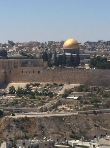 A view of the Temple Mount and the south stairs that led up to the Temple and the way by which most people would have entered the Temple complex.