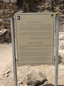 Sign for the Theater