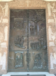 The front doors of the church.