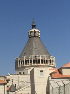 A view of the dome over Mary's Grotto.