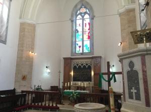 Inside Christ Church Nazareth