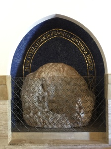 This stone is from part of the cave in which Elizabeth and the baby John hid.