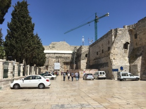 The square leading to the entrance of the Church of the Nativity.