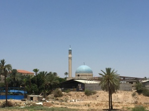 The mosque from the restaurant.
