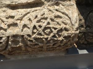 Temple symbols found on columns in Capernaum.