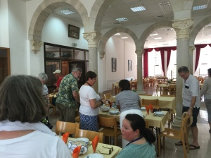The guest house refectory.