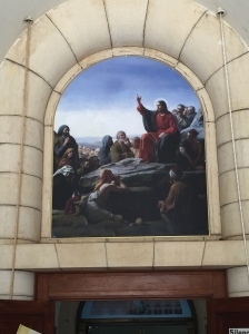 A painting in the Church of the Beatitudes