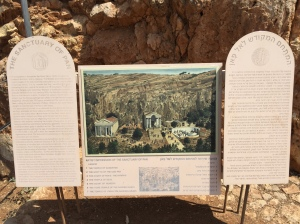 The sign explaining how the different temples were arranged.