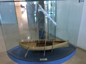 A model 1st Century fishing boat.