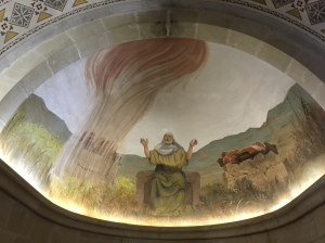 The large mural of the prophet Elijah in the Chapel of Elijah.