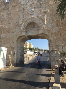 The Dung Gate, one of the seven open gates into the Old City.