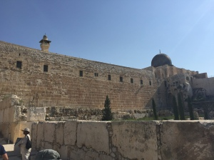 One of the retaining walls of the Temple Mount.