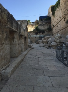 Remains of Main St. Jerusalem...1st century Main St. that is.