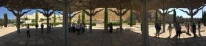 A panoramic view of the Umayyad Palace imprint.