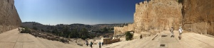 A panoramic view from the southern steps of the Temple.