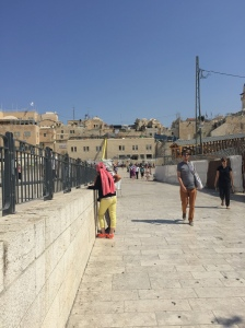 The approach to the Western Wall.
