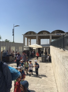 A security checkpoint for the western Wall, the holiest site in Judaism.