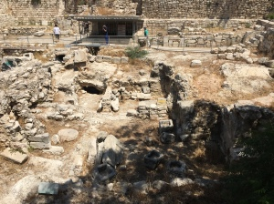 The ruins of the pools of Bethesda...only parts have been excavated but most remain buried under the city.