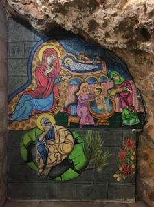 A mural in the Church of Saint Anne.