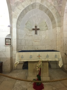 The altar in the church of Saint Anne.