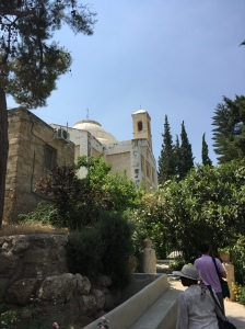 Approaching the Church of Saint Lazarus in Bethany.