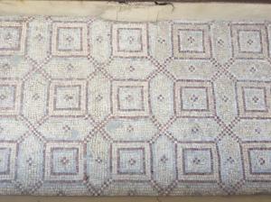 A 4th Century mosaic floor in the Church of Saint Anne.