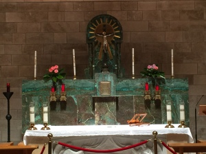 The altar in the Church of Saint Lazarus.