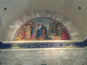 The mural depicting the resuscitation of Lazarus.