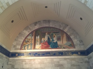The mural depicting the story of Mary and Martha, one of the three stories situated in Bethany.