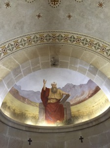 The mural in the Chapel of Moses