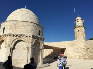 The chapel and the minaret...another reminder of how multiple faiths must live and work together in the Holy Land.