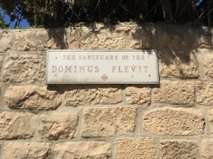 The sign for Dominus Flevit, Latin for