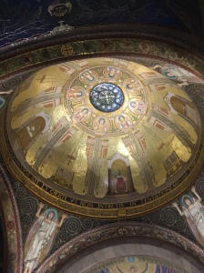 The dome above the sanctuary.
