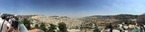 A panoramic view from the church gorunds.