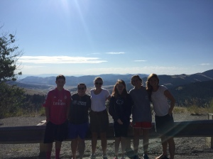 The group at one of the several scenic overlooks along the way.