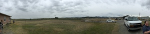 A panoramic view of the surrounding landscape from the house we were working on in Heart Butte.